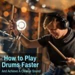 Drummer drumming fast
