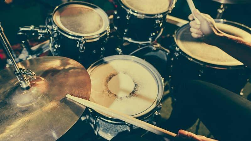 drummer holding drum sticks