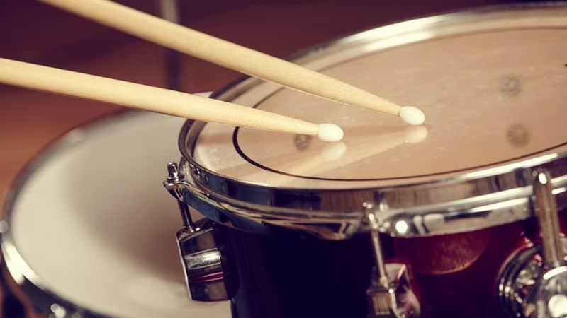 Drumsticks on a drum